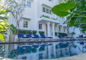 Outdoor swimming pool at Umalas Suites in Bali