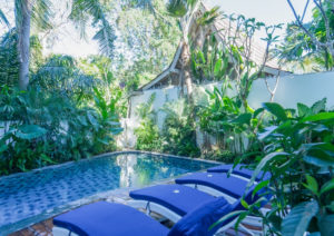 Outdoor swimming pool at Umalas Suites in Bali