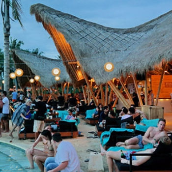 Finn's beach club, beachfront venue, Bali
